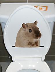 Недорогие -Наклейки для туалета - Наклейки для животных Животные Ванная комната / Кухня