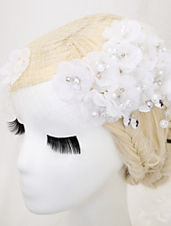cheap -Imitation Pearl / Net / Fabrics Headdress with Rhinestone / Imitation Pearl / Flower 1 Piece Wedding Headpiece