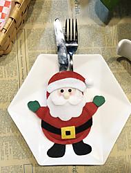 Недорогие -наборы столовых приборов рождественские украшения творческий мультфильм отель наборы столовых приборов санта столовые приборы сумки 1шт