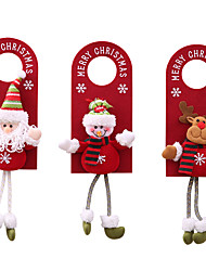 cheap -3pcs Christmas Door Hanging  For Hotel Door At Home New Year  Christmas Ornament