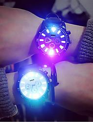 abordables -super lumineux lumière lumineuse super grand cadran mode hommes et femmes couple montres