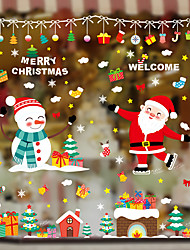 cheap -Window Film & Stickers Decoration Patterned / Christmas Holiday / Character PVC(PolyVinyl Chloride) Window Sticker / New Design / Door Sticker