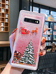 cheap -Case For Samsung Galaxy Note 9 / Note 8 / Samsung Note 10 Flowing Liquid / Pattern / Glitter Shine Back Cover Tree / Christmas TPU