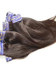 """Недорогие -4 Связки Перуанские волосы Прямой Не подвергавшиеся окрашиванию Необработанные натуральные волосы Человека ткет Волосы 10""""~30"""" Нейтральный Ткет человеческих волос"""