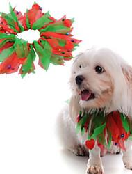 cheap -Dog Cat Pets Bandanas & Hats Dog Scarf Winter Dog Clothes Rainbow White Orange Costume Polyster Plaid / Check Cosplay Christmas S M L