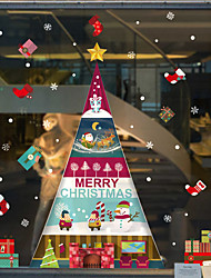 Недорогие -декоративные настенные наклейки - плоские наклейки на стены / праздничные наклейки на стены рождественские украшения / праздничная детская / детская комната