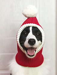 cheap -Dogs Costume Bandanas & Hats Winter Dog Clothes Red Christmas Costume Large Dog Polyster Christmas Cosplay XS S M L XL