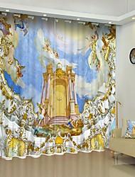 cheap -Greek Digital Printing 3D Curtain Shading Curtain High Precision Black Silk Fabric High Quality Curtain