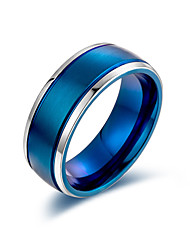 cheap -Men's Women's Band Ring Ring 1pc Black Gold Blue Titanium Steel Stylish Basic Casual / Sporty Gift Daily Jewelry