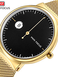 cheap -MINI FOCUS Men's Dress Watch Quartz Formal Style Modern Style Black / White / Blue 30 m Water Resistant / Waterproof Chronograph Casual Watch Analog Classic Fashion - Black White Gold
