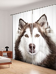 cheap -Husky Digital Printing 3D Curtain Shading Curtain High Precision Black Silk Fabric High Quality Curtain