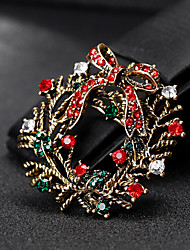 cheap -Women's Brooches 3D Christmas Flower Fashion Gold Plated Brooch Jewelry Gold Silver For Christmas Gifts Wedding Party Dress Party & Evening New Year