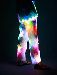 Недорогие -Танцевальные костюмы Нижняя часть Универсальные Выступление Полиэфирная тафта LED Средняя талия Брюки