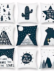cheap -Holiday Christmas Tree Pillow Case Peach Cashmere Pillow Summer Light Pillow Case Sofa Cushion Pillow Waist Pillow Cushion
