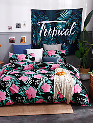 cheap -Duvet Cover Sets Polyester/ Polyamide Tropical Floral/ Botanical Pattern/ Printed 3 Piece Bedding Sets