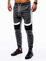 cheap -Men's Jogger Pants Joggers Running Pants Track Pants Sports Pants Athletic Pants / Trousers Athleisure Wear Bottoms Patchwork Drawstring Velvet Sport Running Fitness Soft Black Navy Blue Gray Fashion
