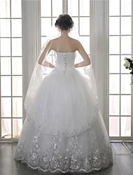cheap -One-tier Elegant & Luxurious / European Style Wedding Veil Blusher Veils with Paillette 59.06 in (150cm) Organza / Tulle / Drop Veil