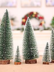 cheap -5pcs Christmas Tree Small Pine Christmas Ornament Desk Mini Christmas Decoration