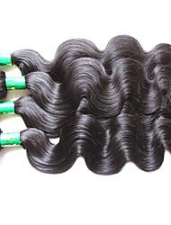 "cheap -4 Bundles Indian Hair Body Wave Virgin Human Hair Unprocessed Human Hair Natural Color Hair Weaves / Hair Bulk 10""~28"" Natural Human Hair Weaves Natural Best Quality For Black Women Human Hair"