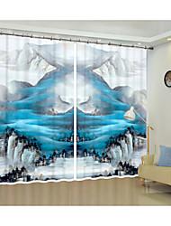 cheap -Wanli Shanchuan Creative Painting Design Digital Printing 3D Curtain Shading Creative Curtain High Precision Black Silk Fabric High Quality First Class Shading Curtain
