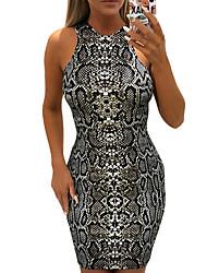 cheap -Women's Bodycon Dress - Color Block Black S M L XL
