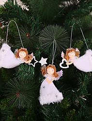 cheap -3PCS Christmas Decoration Pendant Creative Christmas Tree Ornaments Cute Angel Plush Doll Christmas Decorations
