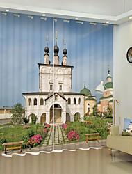 cheap -European Architectural Printing 3D Curtain Shading Curtain High precision black silk fabric high quality Curtain