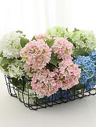Недорогие -искусственный цветок 7 гортензий голова цветок букет искусственный цветок свадебный цветок