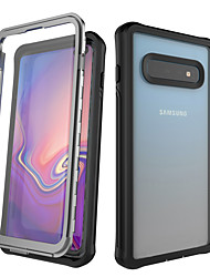 cheap -Case For Samsung Galaxy Galaxy S10 / Galaxy S10 Plus Shockproof Back Cover Solid Colored Silica Gel / Aluminium