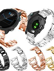 cheap -Jewelry Diamond Watch Band For Garmin Vivoactive 3 / Vivomove HR / Venu / Forerunner 645 / 245 / Vivomove Replaceable Stainless Steel Bracelet Wrist Strap Wristband