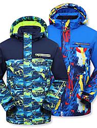 cheap -Phibee Boys' Girls' Ski Jacket Skiing Snowboarding Winter Sports Waterproof Windproof Warm POLY Eco-friendly Polyester Windbreaker Winter Jacket Warm Top Ski Wear / Kids / Camo / Camouflage