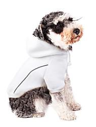cheap -Dogs Cats Coat Shirt / T-Shirt Hoodie Winter Dog Clothes Black White Gray Costume Corgi Beagle Bulldog Poly / Cotton Blend Simple Solid Colored Leisure Euramerican S M L XL XXL