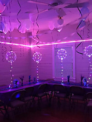 cheap -6Pcs LED Luminous Led Balloon Transparent Round Bubble Decoration Birthday Party Wedding Decor LED Balloons Christmas Gift