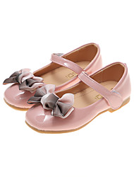 cheap -Girls' Ballerina / Flower Girl Shoes PU Flats Big Kids(7years +) Black / Burgundy / Pink Spring / Fall