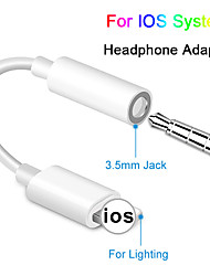 cheap -For IOS Syetem Headphone Adaptador For iPhone 7 8 X AUX Audio Adapter for Lightning To 3.5mm Adapters Headphone Jack Cable
