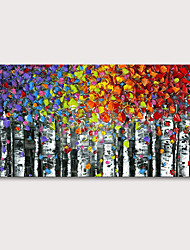 cheap -Oil Painting Hand Painted - Floral / Botanical Abstract Landscape Modern Stretched Canvas