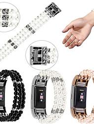 Недорогие -ремешок для часов для FitBit заряда 3 FitBit ювелирный дизайн керамический браслет