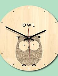cheap -M.Sparkling 2018 New Creative Wooden Wall Clock Modern Design Living Room Wall Watch Mute Quartz