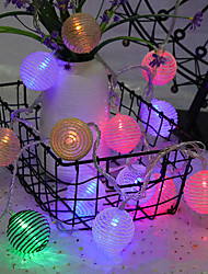 cheap -Rope Ball Shaped Lamp String 4M 20Led Lamp Halloween Decoration Festival Decoration Aa Battery Power Supply 1Pc