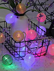 Недорогие -Веревка шарообразная лампа строка 4 м 20led лампы Хэллоуин украшения фестиваль украшения аа батареи питания 1 шт.