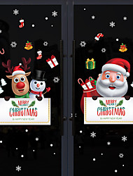 cheap -Window Film & Stickers Decoration Patterned / Christmas Holiday / Character PVC(PolyVinyl Chloride) Window Sticker / Door Sticker / Adorable