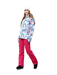 cheap -Women's Ski Jacket with Pants Snowboarding Winter Sports Thermal / Warm Windproof Walking Other Clothing Suit Ski Wear