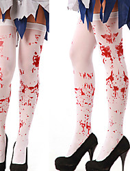 cheap -Women Thigh Stockings with Blood Splash/Cross Pattern for Cosplay Show Costume Party Halloween Masquerade Party
