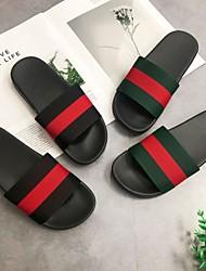 abordables -Pantoufles pour Femme / Pantoufles pour Homme / Pantoufles pour Filles Maison chaussons Simple Gomme Chaussures