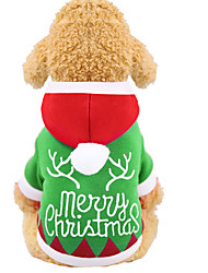 cheap -Dog Cat Hoodie Vest Christmas Christmas Winter Dog Clothes Green Costume Polyester Canvas Mixed Material XS S M L XL XXL