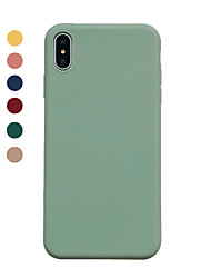 cheap -Case For Apple iPhone XS / iPhone XR / iPhone XS Max Ultra-thin Back Cover Solid Colored TPU