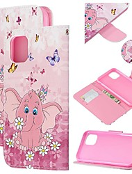 cheap -Case For Apple iPhone 11 / iPhone 11 Pro / iPhone 11 Pro Max Wallet / Card Holder / with Stand Full Body Cases Butterfly / Animal PU Leather