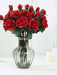 Недорогие -искусственный цветок 2 свернувшись роза свадебные украшения роза поддельные цветок