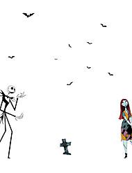 Недорогие -Хэллоуин декоративные настенные наклейки - наклейки на стены животных / праздничные наклейки на стены Хэллоуин украшения / праздничная гостиная / спальня / кухня