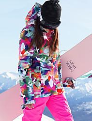 cheap -GSOU SNOW Women's Ski Jacket with Pants Winter Sports Ski Skiing Winter Sports POLY Clothing Suit Ski Wear / Camo / Camouflage